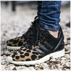 Adidas ZX Flux Animal Leopard Torsion Sneakers